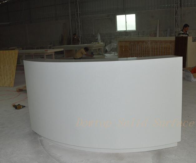 Arc-shaped small reception desk