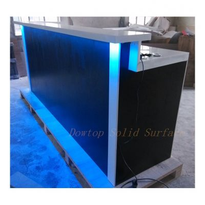 LED bar,home bar,pure white finishing,small reception